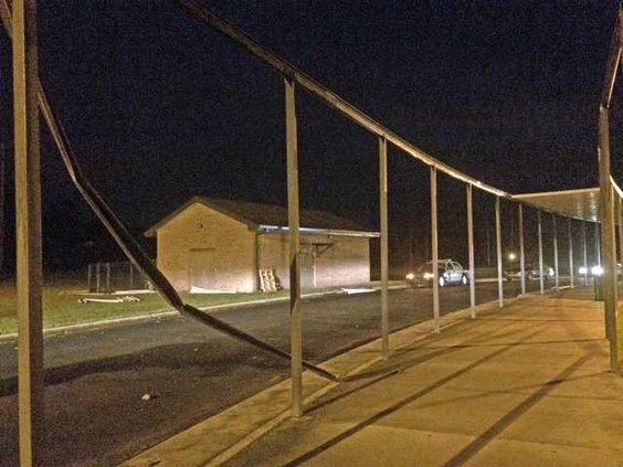 Snelson storm damage