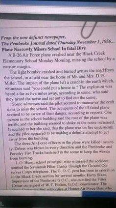Pembroke Journal 1956 crash