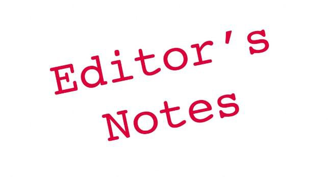 editor's notes