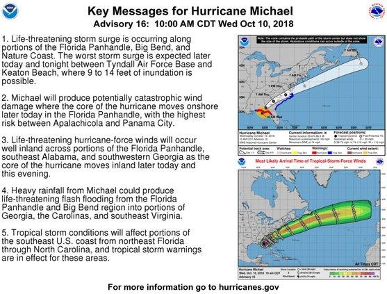 10-10-18, 1pm update hurricane michael
