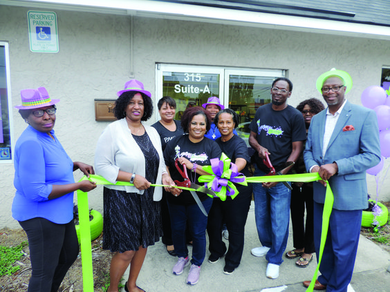 Geaux Pottry Painting Ribbon Cutting .JPG