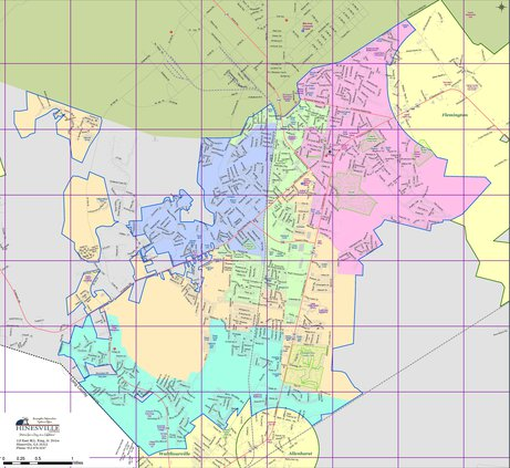 Hinesville districts map