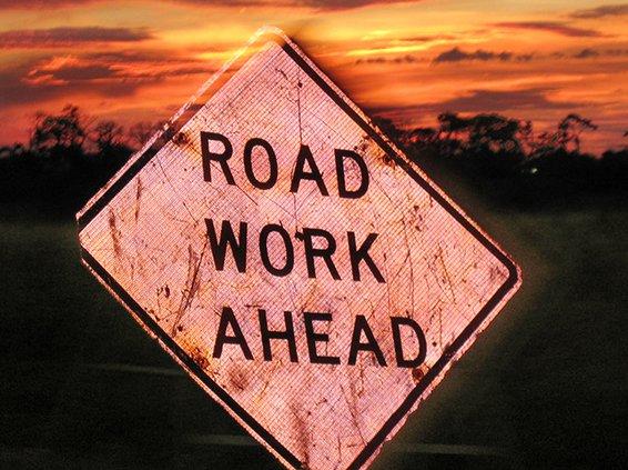 Roadwork sign